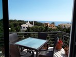 Sea views from our breakfast terrace
