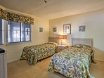 Kids can claim this bedroom with 2 twin beds.