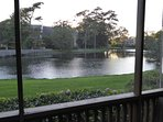 Enjoy views of the private lake.