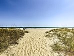 Spend countless hour luxuriating on the quiet beach!