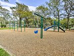 Let the kids burn off some energy on the playgrounds.