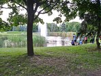 The parc Ahuntsic at the back of the house