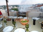 My extraordinary BBQ on rooftop terrace. Magic nights under the stars.