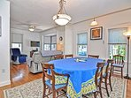 The dining room is open to both the kitchen and living room.
