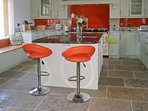 The kitchen, ideally suited for large family gatherings or groups wishing to holiday together.