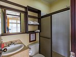 Fourth bedroom with private bathroom but NO A/C unit just fan