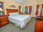 Master Bedroom Located in Pool House