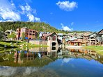 Fantastic resort village and pond with shopping and dining