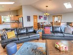 The large upstairs area is perfect a family retreat or gathering of friends!