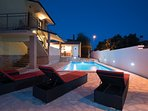 Swimming pool and pool sofas