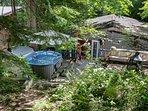 Back yard - hot tub & fire pit
