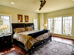Master king bedroom on main level