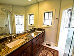 master bathroom with step-in shower