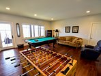 Lower level game area #pooltable #foosball