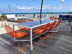 Deck; Alfresco dining while listening to the ocean