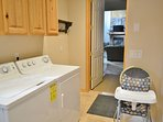 Washer and dryer is available for guest use. A high chair is also available for your little ones.
