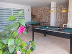 Tabletennis, Pool and Air Hockey are all found alfresco but under the shade of the games terrace