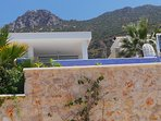 Another road side view of the villa and the majestic Taurus mountains