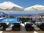 Villa JaySea's pool terrace is ideal for sunbathing or just relaxing and admiring the view