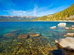 Beautiful Lake Tahoe walking distance from  house!