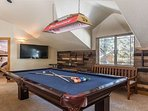 Pool Table/Game Room with Flat Screen TV