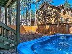 8 person Hot Tub in large fenced in backyard
