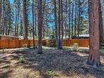 spacious fully fenced back yard