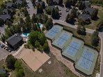 Tennis Courts, Sand Volleyball Court and Clubhouse