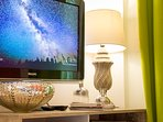 A smart TV is available for you to enjoy.