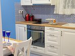 A fully equipped kitchen is available for you.