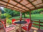 Various exterior gathering spots offer optimal outdoor living!