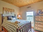 Restful slumber awaits in the plush full bed in this bedroom.