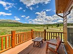 Step out to the spacious deck, where you can soak in the spectacular scenery.