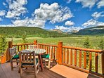 The 5-bedroom, 3-bathroom home has a large deck and panoramic views.