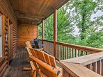 Lush landscape views are waiting for you on the deck.