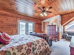 Access the viewing deck right from this loft!