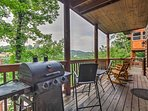 Grill up hearty entrees using the private barbecue.