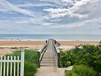 Private dock to gorgeous car-free beach only steps away