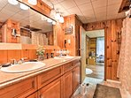 His-and-hers sinks provide ample counter space for everyone.