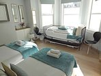 The bedroom can also be arranged as 4 singles using the daybed and the cleverly hidden extra trundle