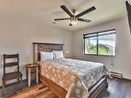 Master Bedroom with Queen Bed, 50' Samsung Smart TV