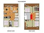 Villa Koritno - floor plan