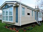 2 bedroom caravan in quiet location of a holiday park, family friendly