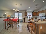Pull up to breakfast bar or kitchen table for a home cooked meal.