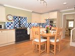 Superb,well-equipped kitchen/diner with TV and dining area
