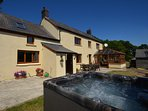 A fantastic farmhouse with its own private hot tub
