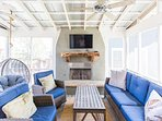 Carlton Landing! Beautiful home with screened porch and outdoor fireplace!