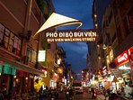 Bui Vien walking street is the most dynamic and bustling place in the city center.
