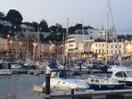Torquay Harbour, full of activity and places to eat and drink