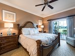 Luxurious Master Bedroom with direct patio access